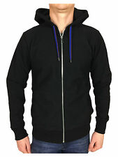 Paul Smith Mens L/S Fitted Drawstring Hoody in Black