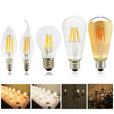 Dimmable Vintage E12 E14 E27 2W 4W 6W 8W LED Filament Light Candle Globe Bulb