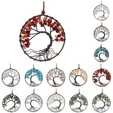 Tree Of Life Handmade Gemstone Beads Chips Copper Wire Pendant for DIY Necklace