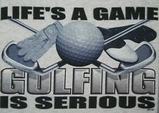 Golf Crewneck Sweatshirt Life's A Game Golfing Is Serious Iron Green Course Ball