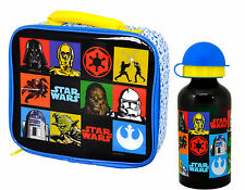 STAR WARS RETRO CHILDS INSULATED SCHOOL LUNCH BAG & BOTTLE KIDS BOYS GIRLS BOX