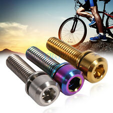 M5x18mm Titanium Alloy MTB Bike Bicycle Stem Bolts Taper Head Screw + Washers SA