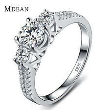 MDEAN Wedding Rings For Women White Gold Color Jewelry Engagement  Ring MSR011