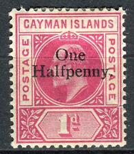 1907-1908 Cayman Islands,Edward VII,Overprint Sc#17 MH Condition by Scans