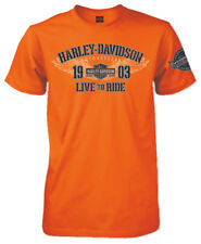 Harley-Davidson Men's Noble Soul Short Sleeve Crew-Neck T-Shirt, Safety Orange