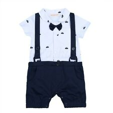 Infant Baby Boys Toddler Kids One Piece Gentleman Bodysuit Romper Outfit Clothes