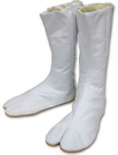 Japanese Tabi Long Boots White