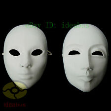DIY Unpainted Venetian White Blank Masquerade Paper Pulp MALE & FEMALE Mask