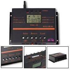 60A/80A 12V/24V LCD Solar Battery Regulator Charge Discharge Controller & USB MO