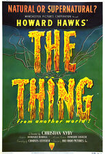Thing From Another World Movie Poster Print - 1954 - Sci-Fi - 1 Sheet Artwork