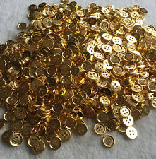 50/100pcs Gold Plastic Button 4 Holes Round DIY Scrapbooking Sewing Craft