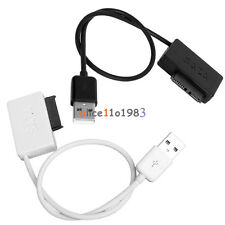 SATA to USB 2.0 Adapter Cable For Laptop CD DVD Rom Drive 7+6 13Pin White/Black