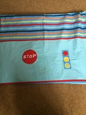 Mothercare Blue Cars Stop Traffic Lights Curtains 60x72 Striped