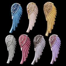 Cute Crystal Rhinesotne Angel Wing Charm Pendant for Necklace Chain Jewelry Gift