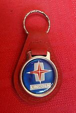 Vintage LINCOLN Keychain Leather Suede Black