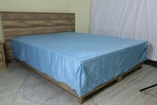 One Bed Skirt/valance 100% Egyptian Cotton 15 Inch Drop 1000 TC Light Blue Solid