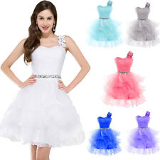 GK Stock One shoulder Organza Ball Cocktail Evening Prom Party Dress 8 Size US 2