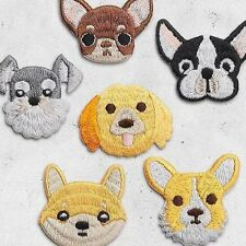 Dog - Pets - Corgi Puppy - Iron on Embroidered Patch Applique