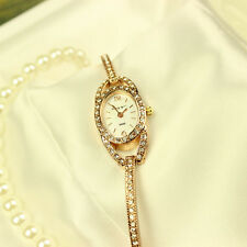 Fashion Women Crystal Rhinestone Lady Stainless Steel Analog Quartz Wrist Watch