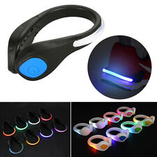 1 Pair LED Shoes Clip Light Reflective Night Running Cycling Safety Warning HCXM