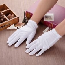 1/3/5 Pairs White Inspection Cotton Lisle Work Gloves Coin Jewelry Lightweight