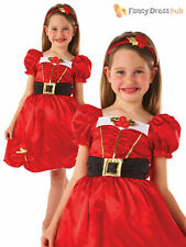 Girls Miss Santa Christmas Costume Kids Mrs Claus Xmas Fancy Dress Outfit Childs