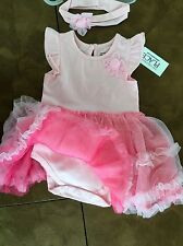 THE CHILDRENS PLACE 2 Piece Dress & Headband 3-6 or 6-9 months Retail for $30.00