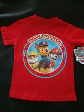 """PAW PATROL   NWTS  GRAPHIC TEE SHIRT """" NO JOB IS TOO BIG NO PUP IS TOO SMALL"""""""