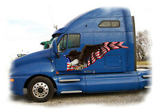 Semi Truck Decals American Flag Eagle Trailer Rv Vinyl Graphic 4ft and up