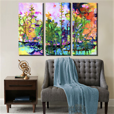 ABSTRACT SET OF 3 PRINTS ON STRETCHED CANVAS FRAME PRINT HOME MORE IN OUR STORE