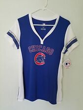 Majestic MLB Team Apparel CHICAGO CUBS   V-Neck Jersey Womens NWT