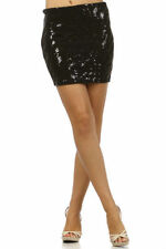 Skirt S M L Mini Sequin Animal Print Bodycon Sparkling Stretch Knit Sexy Club