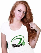 Irish Fan Clothing Supporters Top Lucky Clover Ireland Rugby Union Team T Shirt