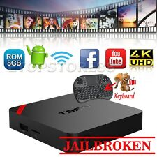 S905X 4K T95N Smart TV Box Android 8G TV Box Quad Core Free Movies+Keyboard Lot