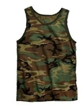 Woodland Camo Tank Top PT t-shirt Work Out US Army Marine Corps USMC S-3X