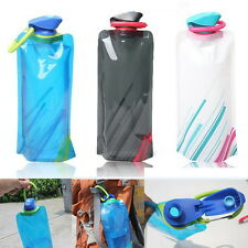 Hot 700mL Outdoor Foldable Reusable Sport Water Bottle Bag BPA-Free Bicycle