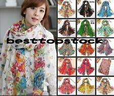 Womens 15 color cotton New Scarf Wraps Shawl Stole Soft Scarve Summer Flower Hot