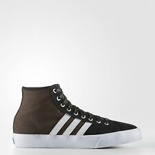 ADIDAS MATCHCOURT HIGH REMIX BLACK BROWN MENS CASUAL SKATEBOARD SHOES