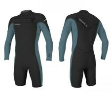 O'neill mens hammer front zip long sleeve shorty spring wetsuit black dusty blue