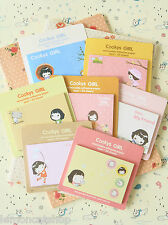 Cookys Girl Cartoon Sticky Notes kawaii memo pad to do list planner diary note