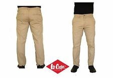 Genuine Lee Cooper Mens Light Brown Chinos Jeans Slim Fit Cotton Trousers