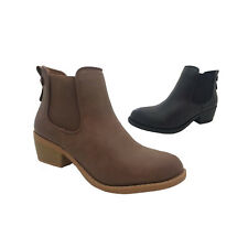 Ladies Boots Inniu Catwalk Harly Black or Tan Pull On Ankle Boot Shoes Size 6-10