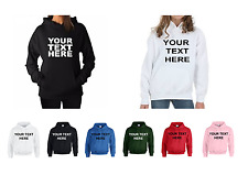 PRINTED HOODIES PERSONALISED HOODIES + YOUR OWN TEXT OR GRAPHIC