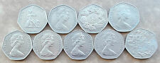 Large / Old 50p, Fifty Pence Coins * Choice of Year * Last Few
