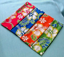 """FLOWER PATTERN LYCRA HEADBAND GREAT COLORS* 2"""" wide*  VERY STRETCHY & SOFT"""