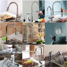 Chrome Brass Nickel Pull Down Kitchen Mixer Tap Swivel Sink Faucet Single Handle