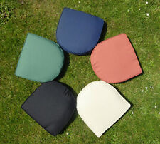 Garden Furniture Chair Cushion Seat Pad Round Back with Removable cover