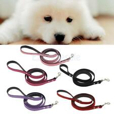 DOG LEAD Pet Leash Flocking Leather Cat Training Collar Traction Rope 1.2meter