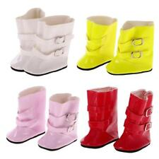 Pair of Half Boots Shoes w/ Strap Buckle for 18 inch American Girl Dolls Clothes