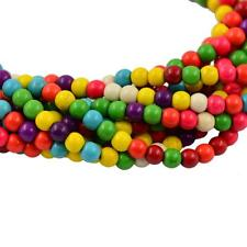 Synthetic Turquoise MultiColor Loose Round Stone Spacer Beads 4mm 6mm 8mm 10mm